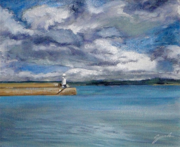 St IVES VIEW. Original art by David Snook