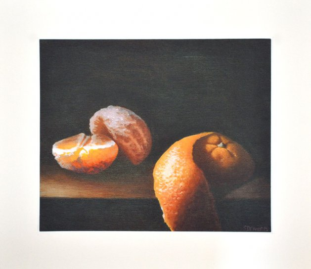 Orange Peeled Giclee Print. Original art by Steve Driver