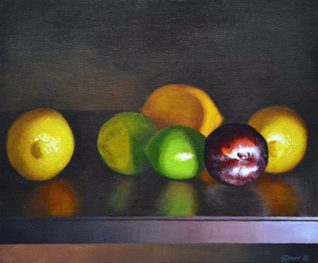 Fruit Selection Still Life. Original art by Steve Driver