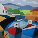 Small Irish Harbour. Original art by Randle Drury