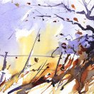 Winter Field Corner. Original art by Adrian Homersham