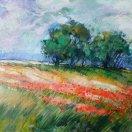 Poppy Field. Original art by George Ganciu