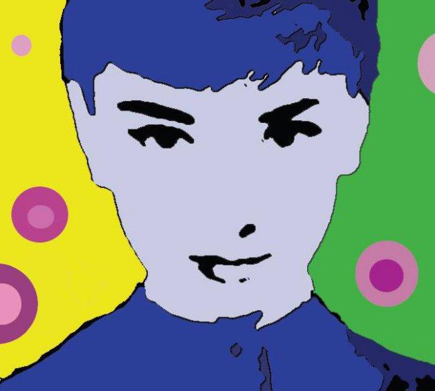 Audrey Hepburn. Original art by Ashlie Urquhart