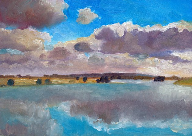 Above the Floods. Original art by Christine Derrick