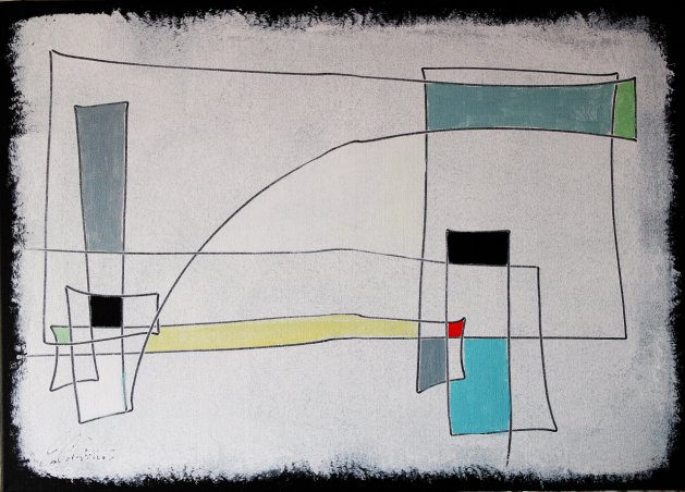 Expressive automatism abstract 0276. Original art by Eraclis Aristidou