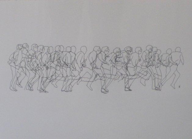 Blyth Staithes. Original art by Tom Winney