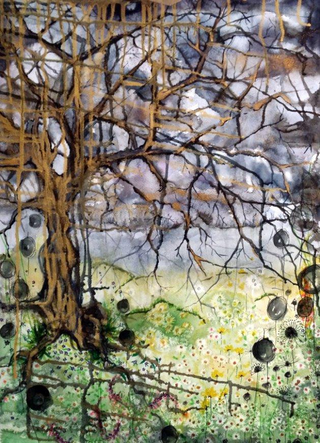 Enchanted Tree. Original art by Yvette Rawson