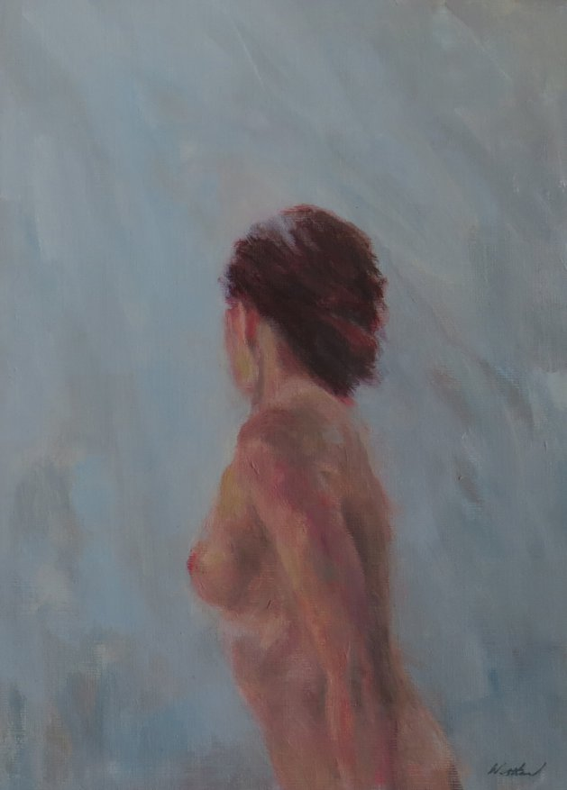 Figure in Blue Light.. Original art by Jacqueline Westland