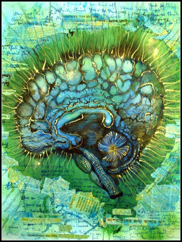 Beautiful Brain. Original art by Yvette Rawson