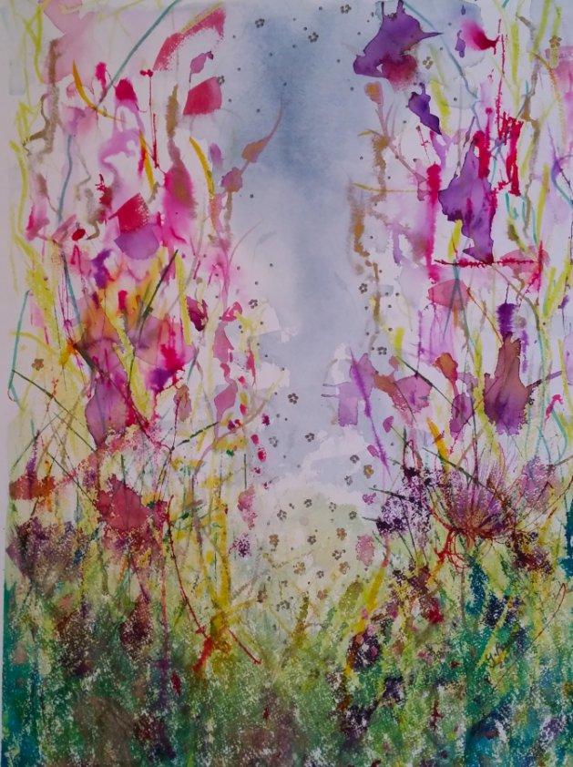 Wild Flower Dreams. Original art by Yvette Rawson