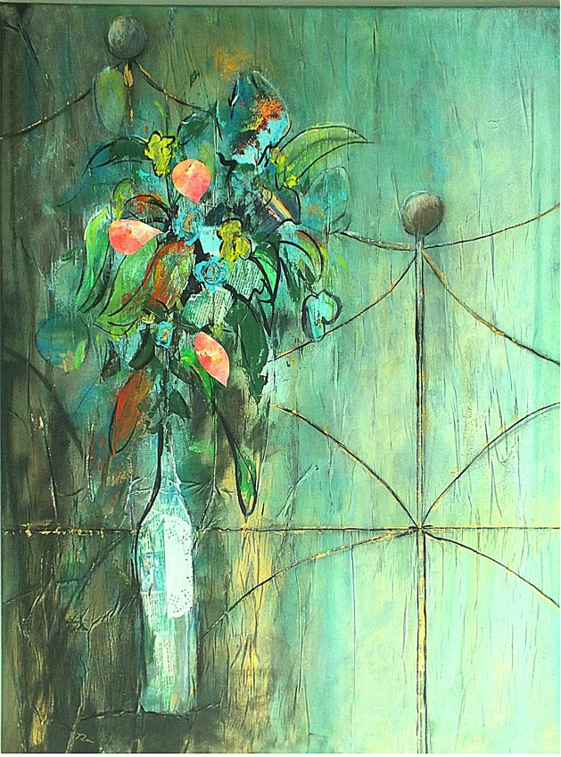 Leave the Flowers by the Fence. Original art by Tracey Unwin