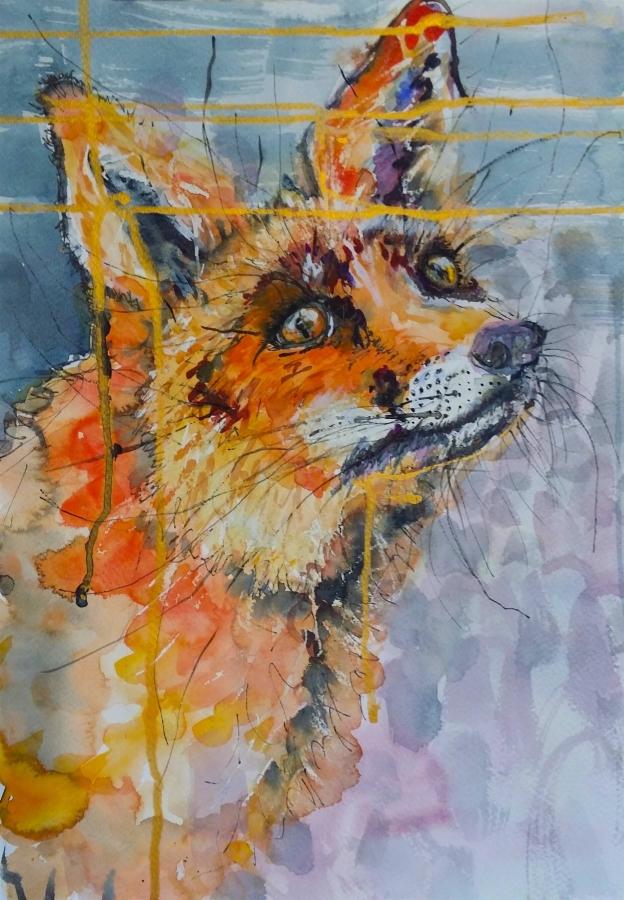 Friendly Fox. Original art by Yvette Rawson