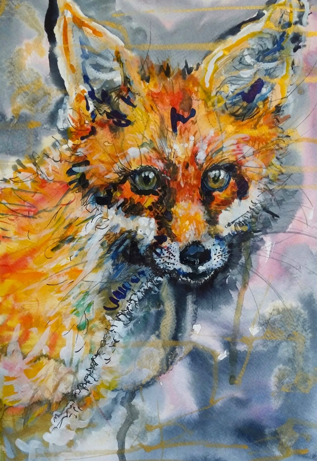 Sweet Cub. Original art by Yvette Rawson