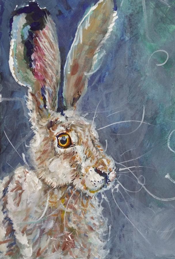 Mr Hare. Original art by Yvette Rawson