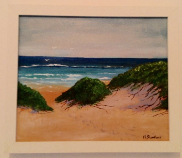 Sand Dunes. Original art by Irene Shortland