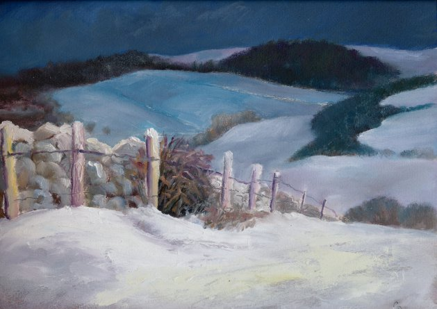 Winter Wall. Original art by Christine Derrick