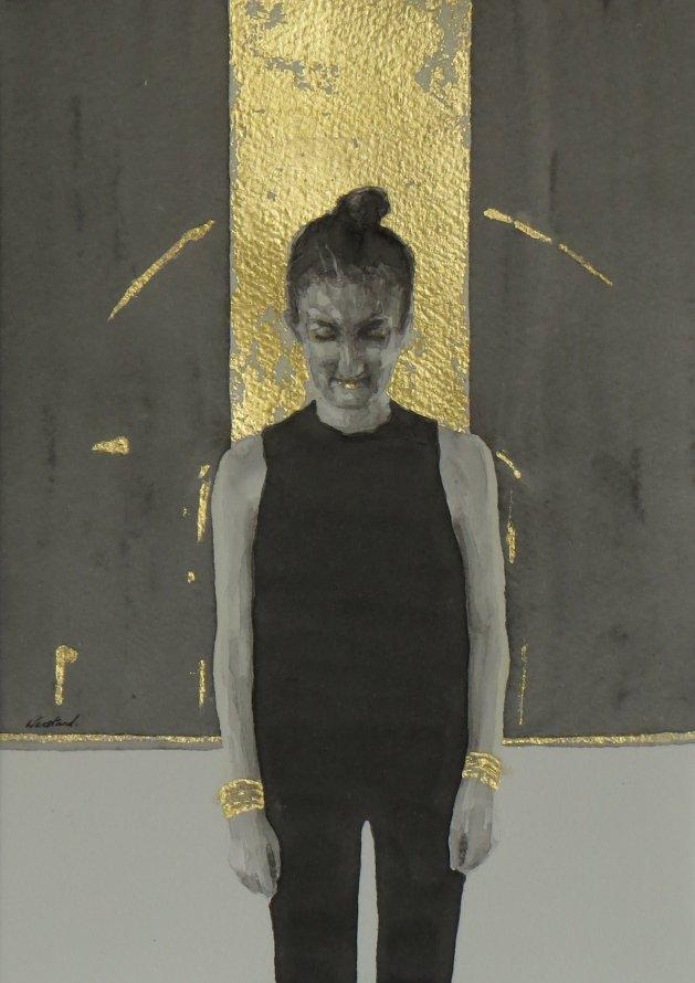 KK in gold. Original art by Jacqueline Westland