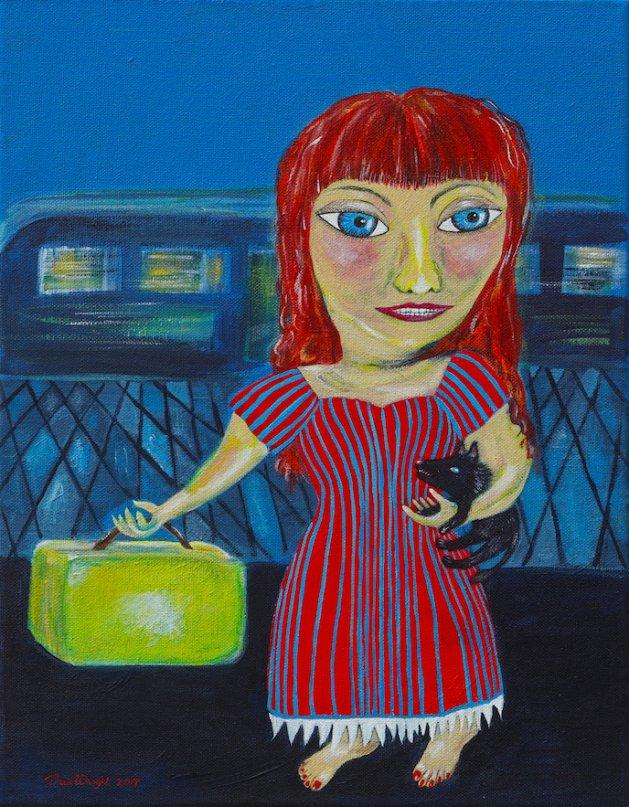 Holiday with Vladi. Original art by Sue Wright