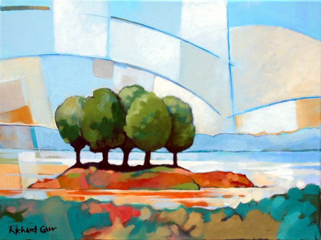 Islet Trees. Original art by Richard Carr