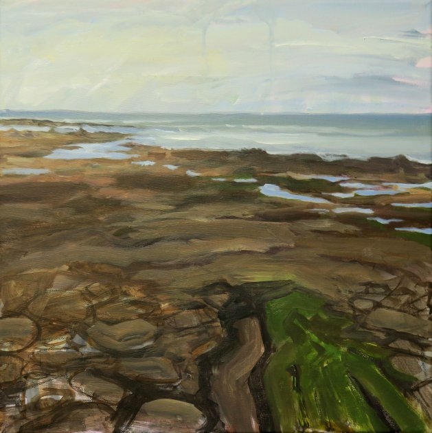 Northumberland Coast #1. Original art by Lynn Marie Hall