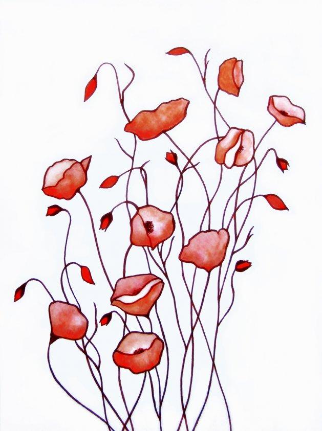 Poppy Waltz. Original art by Tricia Cole