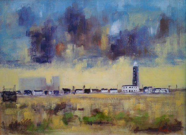 Dungeness Lighthouse. Original art by John Walker