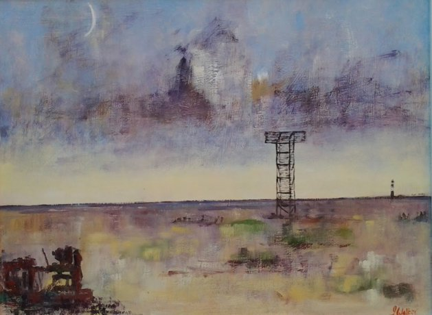 Dungeness Navigation marker. Original art by John Walker