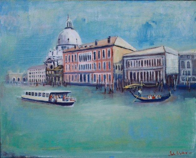Venice Lagoon. Original art by John Walker