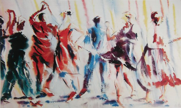 Dance Moves. Original art by George Dow