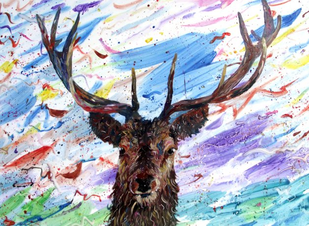 Colour Stag. Original art by George Dow