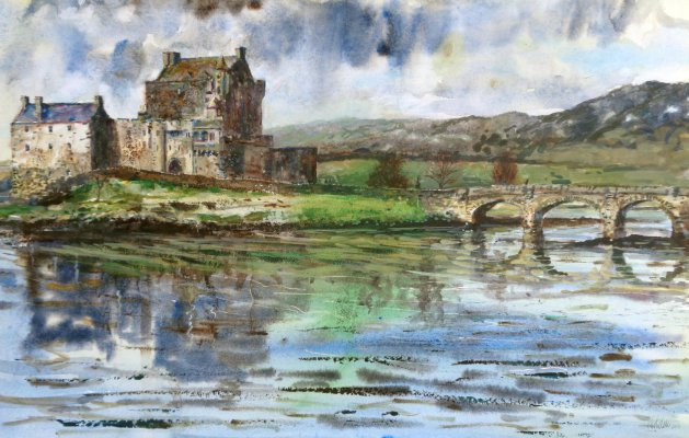Eilean Donan Castle,Scotland. Original art by George Dow