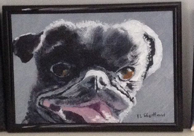 """PUGSY\"". Original art by Irene Shortland"