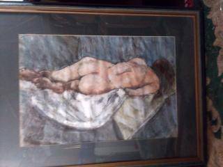 Reclining Model. Original art by John Wardle