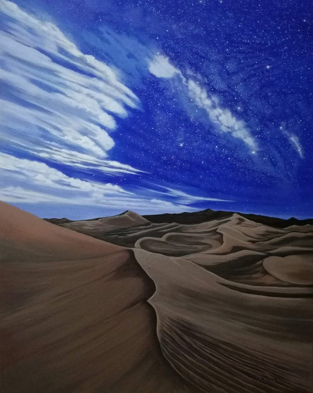 Desert Milkyway. Original art by Zoe Adams