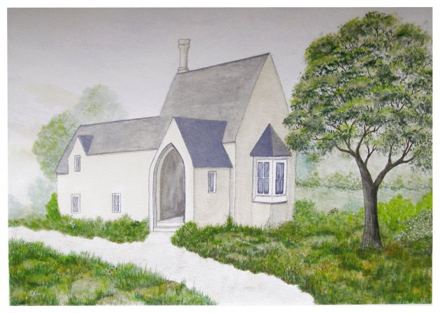 The Old Gate House. Original art by Tricia Cole