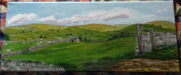 Swaledale, Yorkshire. Original art by Irene Shortland