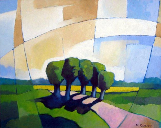 Avenue. Original art by Richard Carr