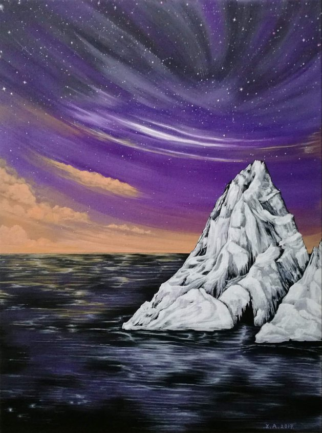 Purple Sky Dream. Original art by Zoe Adams