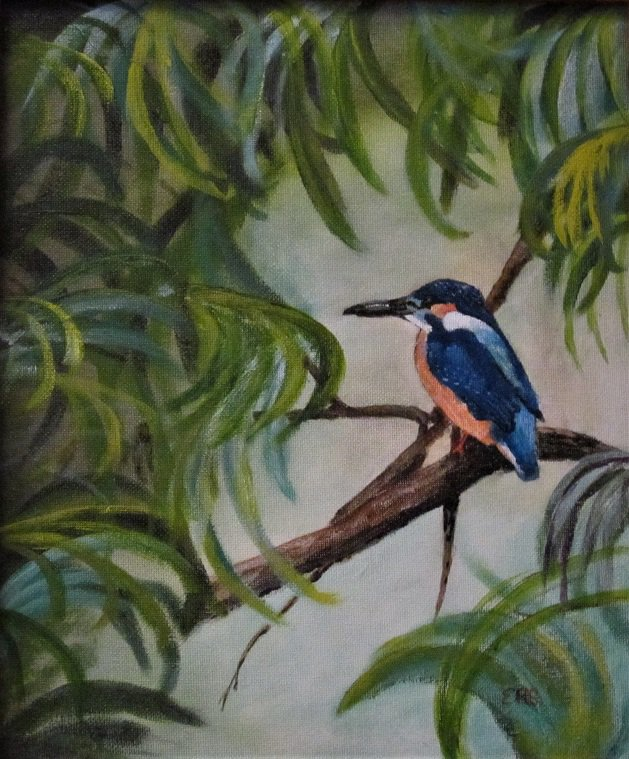 Kingfisher. Original art by Keith Groves