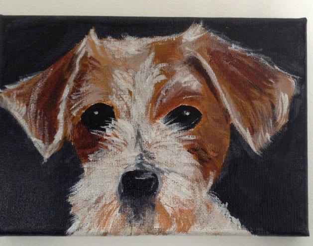 Cute Terrier. Original art by Irene Shortland