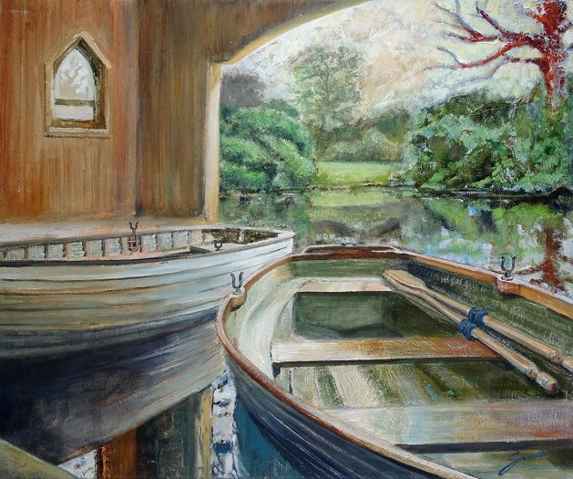 The Boathouse. Original art by David Snook