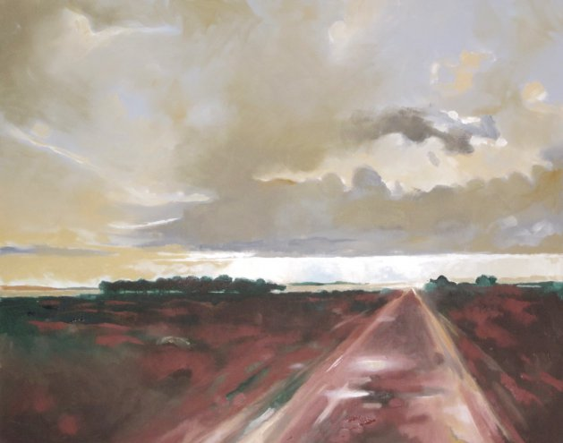 Country Track. Original art by Richard Carr