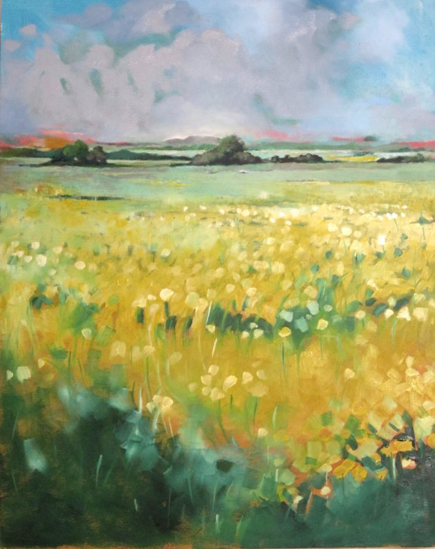Field of Flowers. Original art by Richard Carr