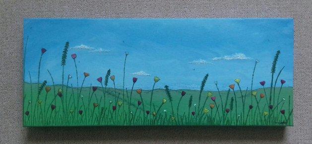 Flower Meadow. Original art by Sarah Dodd