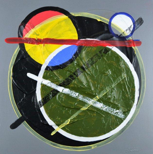 Circles and lines Abstract 334. Original art by Eraclis Aristidou