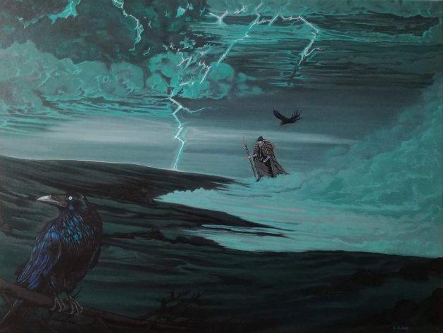 Odin / The wanderer.. Original art by Zoe Adams