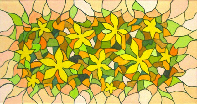 Yellow Flower Mosaic. Original art by Tricia Cole