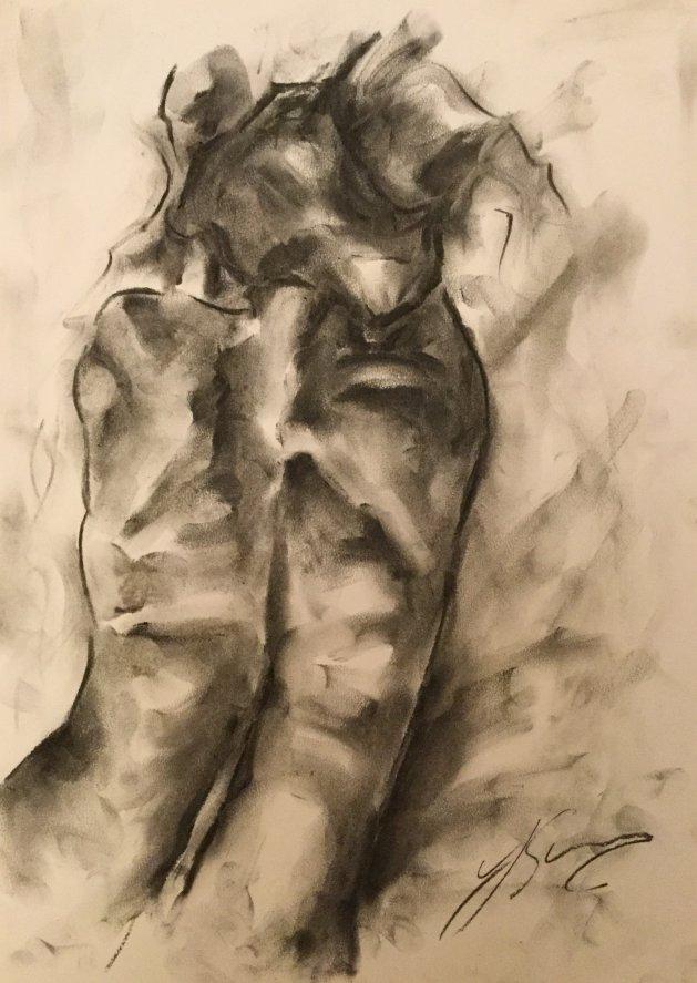 Reaching for. Original art by James Shipton