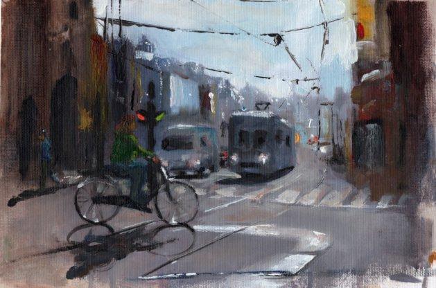 Amsterdam Weekend. Original art by Steve Strode