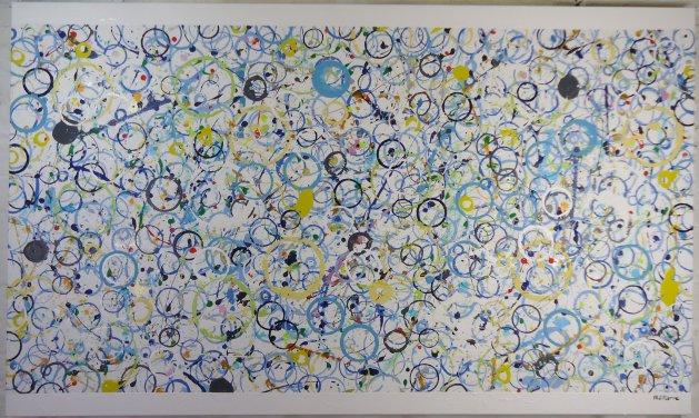 Blue Bubbles 051. Original art by Phil Pierre